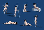 Pixel Figure Drawings, 2014-05-18 by zacharyknoles