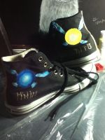 Converse customization Legend of Zelda by skinny-artist