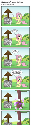 Fluttershy's New Clothes by Pony-Berserker