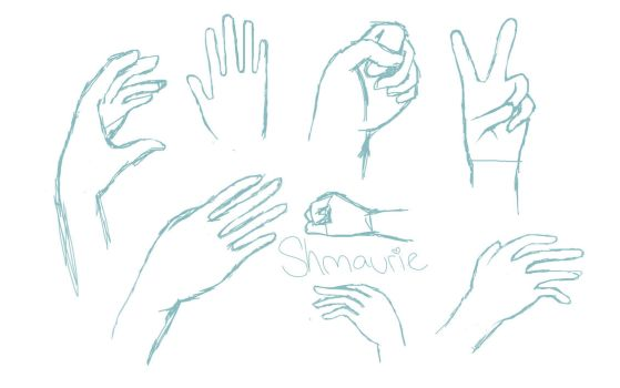 hand practice by Shmaurie