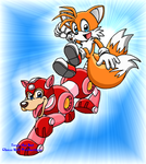 M-S: Rush and Tails by TanjatheBat