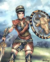 Bellona - Goddess of War- SMITE by GobGrael