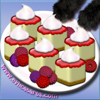 Raspberry Cheesecake Cubes by EvilCatArts