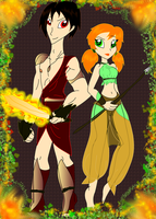 Burn and Clover: The Gods of Fire and Nature by PurfectPrincessGirl