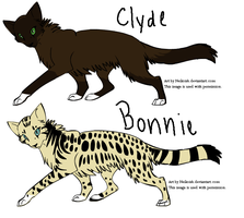 Bonnie and Clyde by woodsybirds