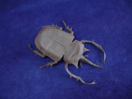 Origami Elephant Beetle by origami-artist-galen
