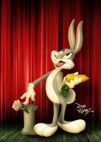 Bugs Bunny vintage painting recreation by DaveAlvarez