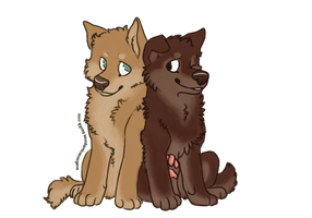 Actual puppies Isaac and Scott by FourDirtyPaws