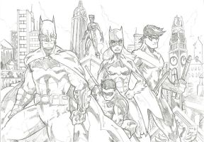 The Bat-family (pencils) by Jey2K