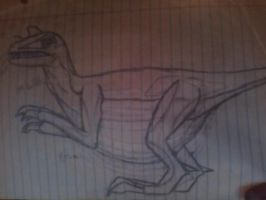 The first dinosaur I ever manually drew by hand. by DJ-Xyclone