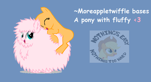 A Pony With Fluffy by moreappletwiffle
