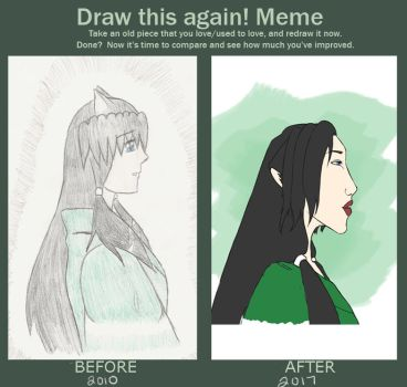 Meme  Before And After by YukaTheDemon