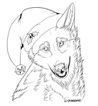 FREE Christmas Lineart 2014 by KahlaWolf