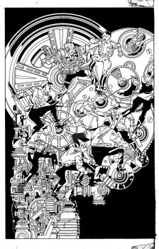 Corliss INKS pg 1 Steampunk by BarbKaalberg