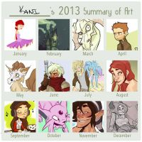2013 art summary by KiilKannibble