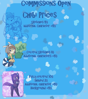 CHIBI COMMISSIONS OPEN! by BlushyLittleLucy