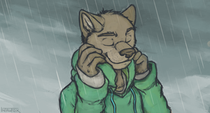 Walking In The Rain by Intrufox