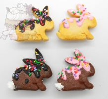 Scented bunny sugar cookie brooch by ilikeshiniesfakery