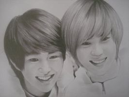 SHINee onew taemin by DENITSED