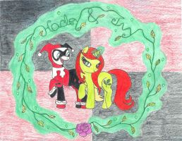 My Little Pony: Harley and Ivy by BatmanBrony