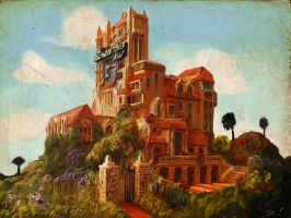 The Hollywood Tower Hotel by ninjaink