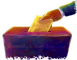 Humanity is More than Color by Fainalotea