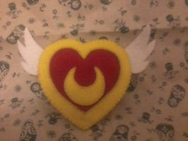 Sailor Moon felt brooch by MishYooona