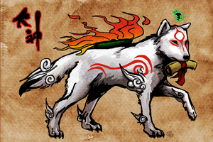 Okami Amaterasu by lycanthropeful