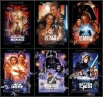 Star Wars Saga Poster Collection by nei1b