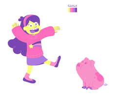 Mabel and Waddles by goldenConnpass
