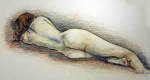 Reclining Figure Study: tara by WithoutName