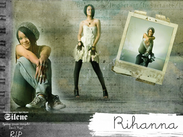 Rihanna wall by silene7