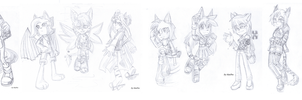 10 sketches by ShaoDen-El