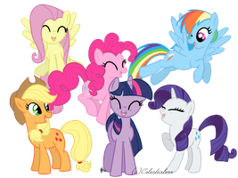 Mane 6 by Celestialess