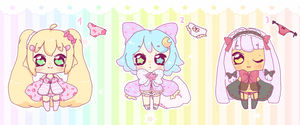 Kawaii Pantsu Girls Adopts CLOSED (Auction) by LuciaTan