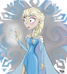 Elsa (Tim Burton style) by joselyn565