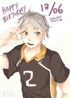 Happy belated birthday Sugawara Koushi!! by aoi-purin