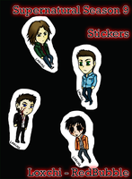 Supernatural S9 Stickers by Loxchi