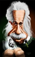 Caricature Albert Einstein by crazedude