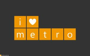I heart metro Yellow - Dark by mymicrosoftlife