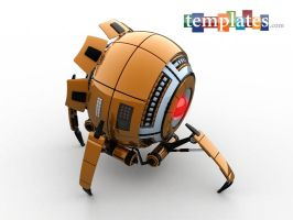 Science Fiction Spider Robot by 3Dmaxwell