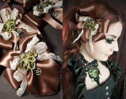 Octopus and Gear Fascinator Brooch by MADmoiselleMeli