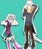 Shiro Lin y Albus Macropus(Dark :U) by K01NU