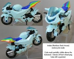 Kitbash: Ardee motorcycle mode by dvandom
