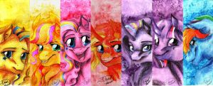 Rainbow Ponies by jessi-dragon-rider