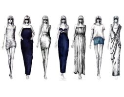 Fashion Design_Collection one by NavyBlackandGray