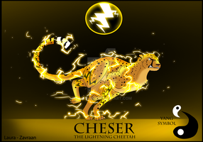 Cheser the lightning cheetah by zavraan