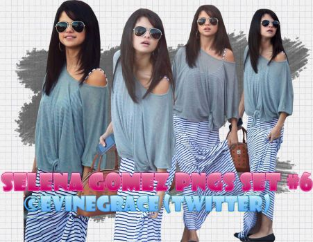 Selena Gomez PNGS set 6 by evinegrace