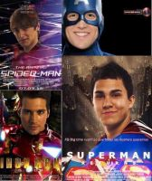 Super heros=Big Time Rush by SkyandBigTimeRush
