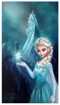 Elsa Frozen by Niniel-Illustrator